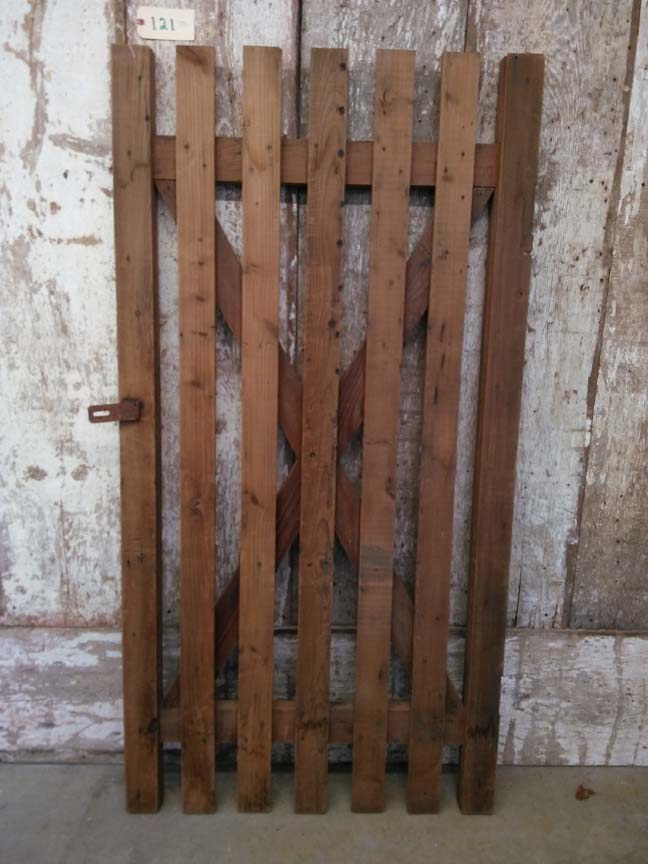 121 Slatted Wood Door